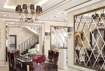 Дизайн интерьера дома в стиле неоклассика / Пожелание заказчика: контрастный дизайн интерьера дома должен быть выполнен в стиле неоклассика с вкраплениями ноток современности.