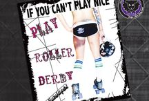 Roller Derby Shirts, Tanks, Cups, Mugs, Pillows / https://www.etsy.com/ca/shop/blacksheepclothing / by Lucy Dynamite