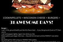 Cheeseburgers / Amazing Cheeseburger recipes with Cookinpellets + Wisconsin Cheese!