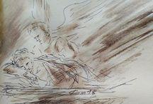 Evangile du jour illustré en image par des dessins au lavis de Jean-Joseph Chevalier; Mars 2018