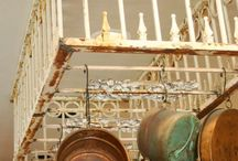 VINTAGE NIRVANA No 1 / Salvaged iron railing, gates, etc