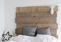 DIY bed head / Modern Rustic