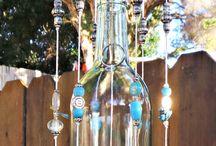 Botellas de vino recicladas