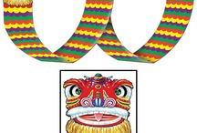 Chinese Theme Party / Chinese New Year & theme party decorations from vibrant paper lanterns to richly decorated fans
