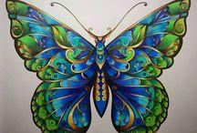vlinders tekenen