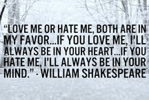 fave quotes from W. Shakespeare