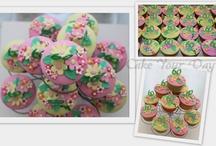 Cupcakes Utrecht / Cupcakes met Frozen Nijntje Cars Woezel&Pip bloemen eetbare print Spongebob Thomas de trein Bruids-cupcakes