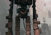 Mechs and Robots / Inspiration for mechanical robots, concepts and finsihed pieces