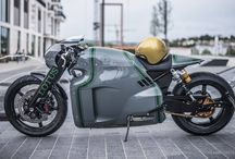 Cafe racers and bikes