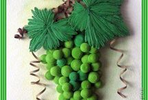quilled green grapes