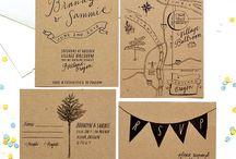 c + j wedding invitations