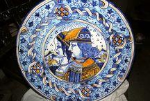 piatti di maiolica ceramica Deruta / piatti di ceramica maiolica dipinti a mano Deruta