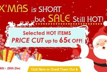 X'Mas Special Deal! / X'Mas is SHORT but our SALE still HOT! We have prepared TWO Special Offers for You!  1. Selected Models with CRAZY PRICE CUT up to 65€ OFF!   2. Enjoy an Instant 7€ Discount for ALL Order over 350€; Enjoy even more for Instant 12€ Discount for ALL Order over 580€!   Let's Greet and Pass the Cold X'Mas with our HOTTEST X'Mas Deal!
