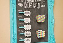 Menu boards for home