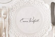 Clear plate decoration