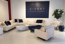 SIGNET // Dakota For Decca Home / Signet Collection // Inspired by an iconic design of a signet ring, the renowned furniture designer Dakota Jackson conceived a new seven-piece collection.