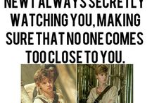 Imagines / yeah,cuz deep down im a romantic kid whos in love with newt and tommy
