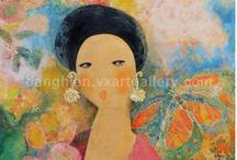 Dang Hien Paintings Collection / Paintings by artist Dang Hien