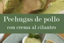 pechuga de pollo al cilantro