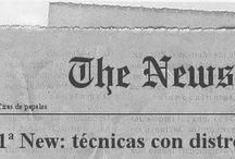Newspaper-Ink / Técnicas con tintas Distress