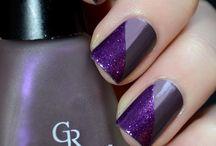 Purple nail art and polish