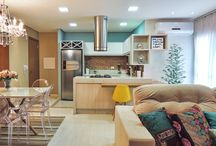 Cozinha sala integrada