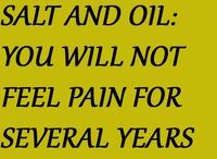 Salt & oil for pain