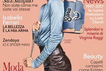 SARA SAMPAIO in PINKO total look on the cover of Grazia Italia