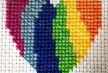 HEART-LOVE*CROSS STITCH-EMBROIDERY