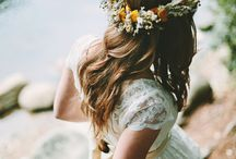 Wedding dress/hair
