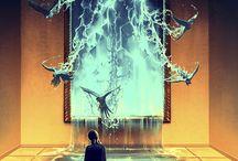 Hayao Miyazaki-Tim Burton-Cyril Rolando / Ο Γάλλος καλλιτέχνης, που ονομάζεται Cyril Rolando, εργάζεται με το όνομα του καλλιτέχνη Aquasixio. Τα έργα του εστιάζονται περισσότερο στις συναισθηματικές πτυχές του ανθρώπου και των χρωμάτων.