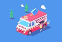 Street Food Illustration