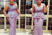 Ankara, lace and other Naija designs