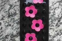 Cover con applicazioni a fiore