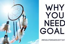 #RESOLUTIONSWEEK / It's all about setting your new years resolutions or goals. (in Bahasa)
