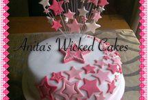 Star themed birthday cake