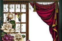 Okno , drzwi , mural