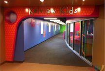 Preschool Design / Neon Puzzle Theme - Entryway, Check-in, Indoor Playground