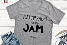 Teacher's Fashion / Finally!  Fun and stylish t-shirts especially for librarians and school media specialists that have a sense of style!  Visit http://bit.ly/LibrarianTees to see all designs currently available!