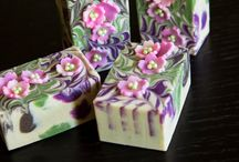 Soap with flowers