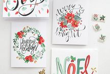 handmade cards christmas watercolors