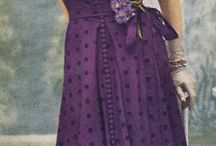 Purple 50s dress