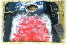 SPIRIDON handbags / Hand Painted leather handbags