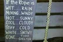 Rope weather board