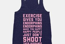 Funny Workout Wear / If you can't have fun while you get fit, what's the point?
