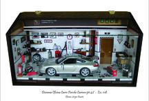 Diorama Oficina Carro Porsche 911 S4