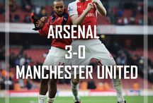 Arsenal 3-0 Manchester United 2015 / Sun 4th Oct 16.00 Emirates Stadium. Two goals in the opening seven minutes laid the platform for a convincing home win over Manchester United.