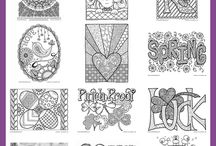 coloring my world / Coloring pages, tutorials, helps and hints, and resources