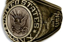 US Navy Rings / Our Military Rings for the Navy come in a variety of gold, silver, rhodium and more. / by PriorService.com