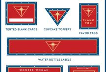 Wonder Woman Party Ideas / Awesome Wonder Woman birthday party ideas, including Wonder Woman birthday cakes, cupcakes, Wonder Woman themed treats, decorations, party favors, and party activities.